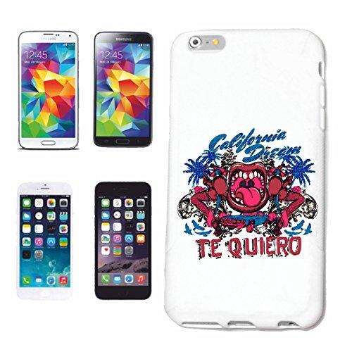 """cas de téléphone iPhone 6S """"KISS CAR CALIFORNIA RÊVE tequiero HOTROD US V8 HOT ROD CAR US Mucle CAR V8 ROUTE 66 USA AMÉRIQUE"""" Hard Case Cover Téléphone Covers Smart Cover pour Apple iPhone en blanc"""