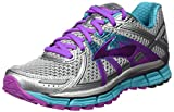 Brooks Women's Adrenaline GTS 17, Silver/Purple Cactus Flower/Bluebird, 10 B-Medium