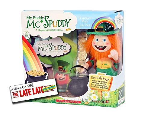 My Buddy McSpuddy St. Patricks Story Book - Saint Patrick Day Presents for Kids - Irish Leprechaun Toy with Gold Coins          ()