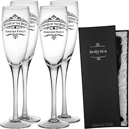 Enesco Set 4 Wedding Champagne Flute Toasting Glasses Mother product image