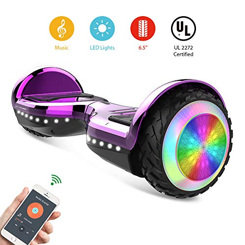 CITY CRUISER Hoverboard with Bluetooth Speaker, LED Light by UL 2272 Certified Best Gift for Kids Purple