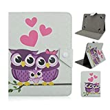 Tsmine ASUS MeMo Pad 7 ME170CX / ME170C Tablet Cartoon Case - Premium Cute Owl Print Flip Pu Leather Case Cover Stand Protective Skin ,Full of Love Owl Family