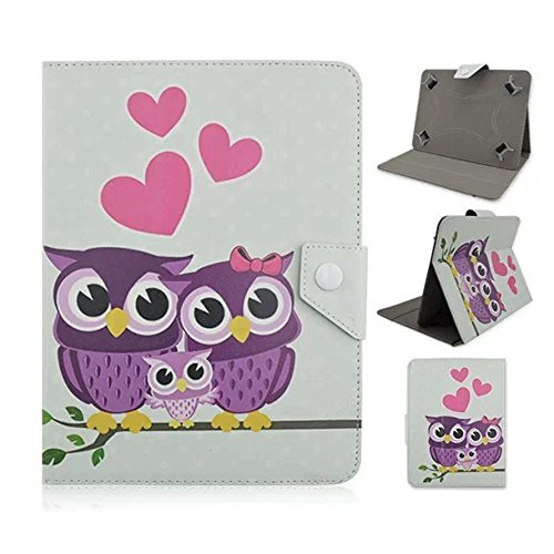 Tsmine Huawei Mediapad M1 8.0-inch Tablet Cartoon Case - Premium Cute Owl Print Flip Pu Leather Case Cover Stand Protective Skin ,Full of Love Owl Family