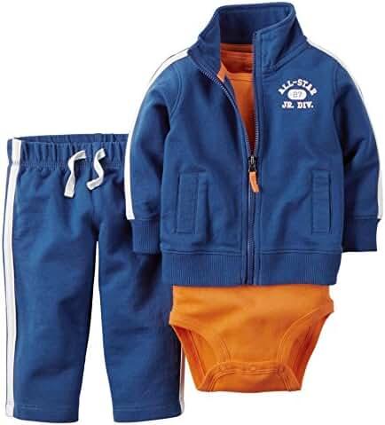 Carter's Baby Boys' 3 Piece Cardigan Set All-Star Jr 6M