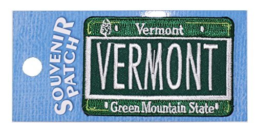 Vermont Embroidered Iron-On Patch (License Plate)