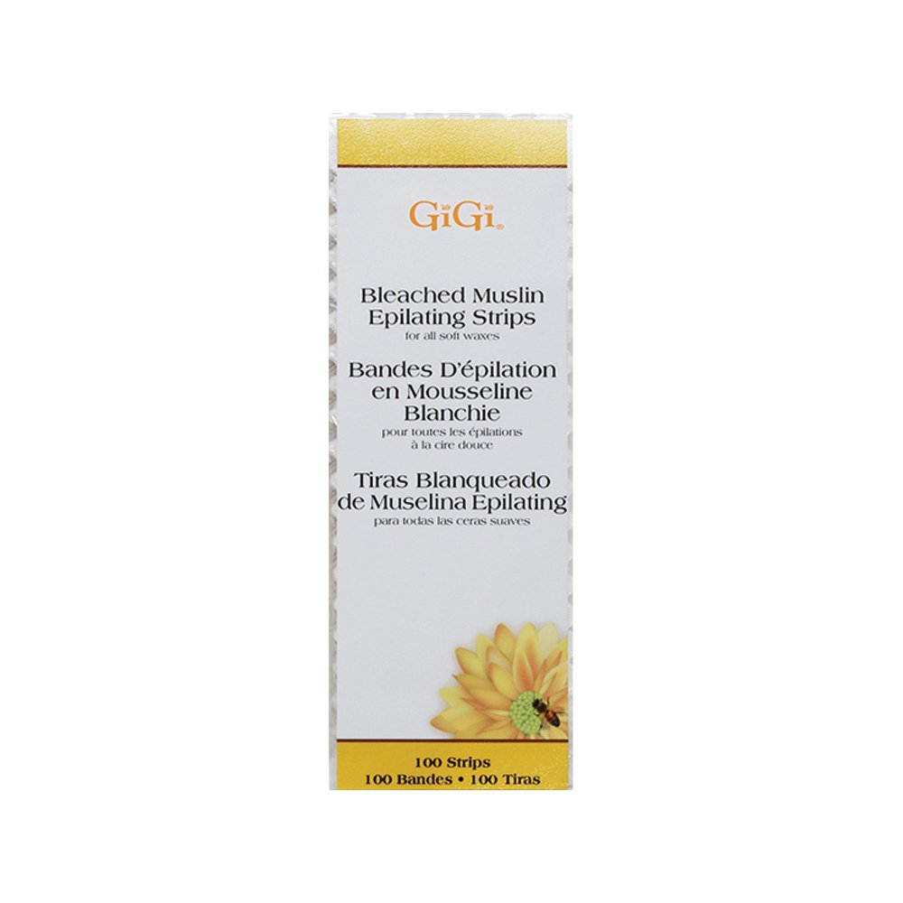 Gigi Bleached Muslin Epilating Strips, Large, 100 Count 0640