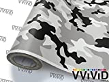 auto wrap camo - VViViD Snow Camouflage Vinyl Car Wrap Adhesive Decal DIY Air Release Roll (50ft x 5ft)