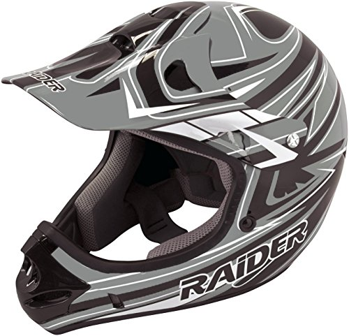 Raider Y55-564G-15 Rush Youth MX Off-Road Helmet, Grey (Large) ()