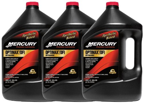 Mercury 2-Stroke Outboard Oil Optimax Case (3) Gallons - Mercury 2 Cycle Oil
