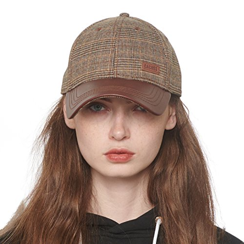 Cap Ball Plaid (CACUSS Women's Cotton Dad Hat Baseball Golf Cap with Adjustable Buckle Closure)