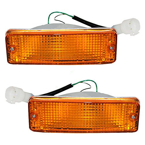 Driver and Passenger Park Signal Front Marker Lights Bumper Mounted Lamps Replacement for Toyota Pickup Truck SUV 8152089130 8151089130