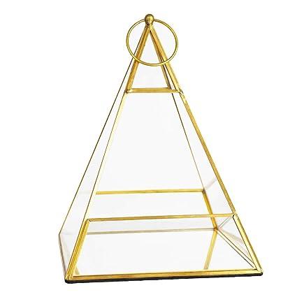 Amazon Com Banord Gold Tabletop Geometric Terrarium Container Metal