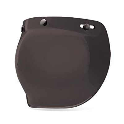 Bell 3-Snap Bubble Shield, Dark Smoke: Automotive