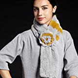 Wuyulunbi@ Autumn and Winter Scarf Knitted Scarf,Yellow and Grey