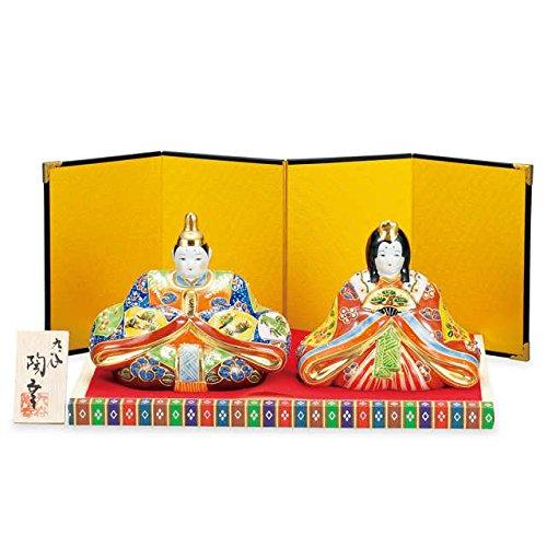 Japanese drawn Ceramic Porcelain kutani ware. Hina ningyo doll displayed during the Girls' Festival '' Japanese ceramic Hagiyakiya 1444