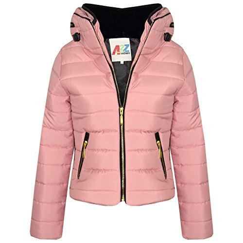 A2Z 4 Kids® Girls Jacket Kids Padded Puffer Bubble Fur Collar Quilted Warm Thick Coats 3-13 (Quilted Bubble Jacket)