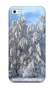 AmandaMichaelFazio Perfect Tpu Case For ipod touch4/ Anti-scratch Protector Case (snow Trees Bushes Winter Amp Digital)