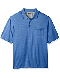Men's Big and Tall Jacquard Short Sleeve Polo