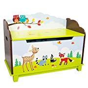 Fantasy Fields Enchanted Woodland Thematic Kids Wooden Toy Chest with Safety Hinges | Imagination Inspiring Hand Crafted & Hand Painted Details | Non-Toxic, Lead Free Water-based Paint