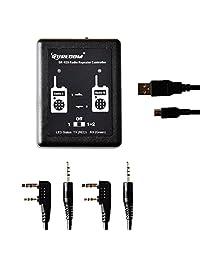 Mcbazel Surecom SR-629 2 en 1 controlador de repetidor de radio de banda cruzada dúplex con cable de radio para walkie talkie
