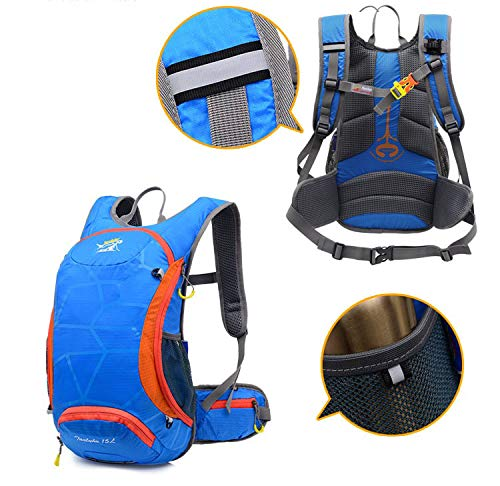 Amazon.com: 15L Waterproof Bicycle Backpack with Water Bag MTB Rucksacks Riding Ride Pack Mochila Male Travel: Kitchen & Dining