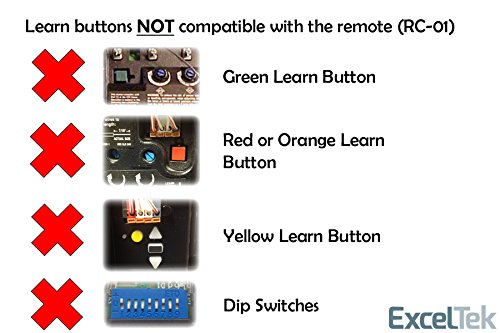 Exceltek Compatible Garage Door Remote Control With Purple