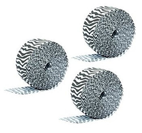 Zebras White Black Stripes - (3 pack) Black and White Zebra Stripes Animal Print Crepe Paper Streamer (3 x 30ft rolls - 90ft total)