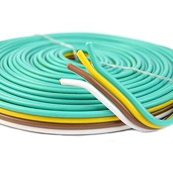 amazon com flat trailer light cable wiring harness 25ft 14 gauge 4 rh amazon com