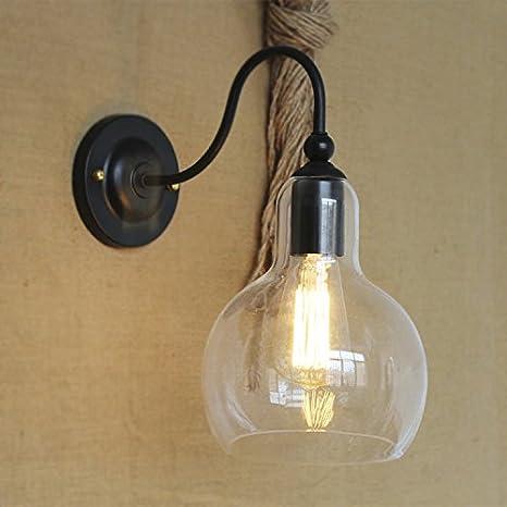 Industrial Single Light Wall Sconce-LITFAD Edison Antique Glass ...