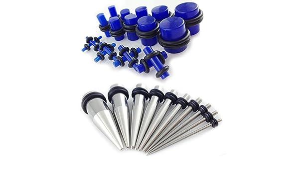 Gauge Gear® 28 Pc Ear Expander Kit Dilataciones de Acero ...