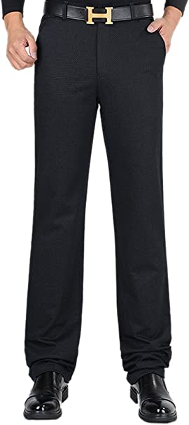 SK Studio Mens Big and Tall Stretch Lightweight Casual Business Pants