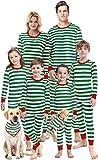 Matching Family Pajamas Christmas Green Striped Pjs
