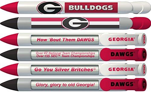 Greeting Pen Georgia Bulldogs Braggin' Rights Rotating Message 6 Pen Set 20504