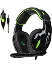 Xbox One Headset PS4 Gaming Headset Gaming Over Ear Headphones with Xbox one Mic LED Lights Noise-canceling Microphone for PS4, PS4 PRO, Xbox One, Xbox One S,Laptop Mac Tablet