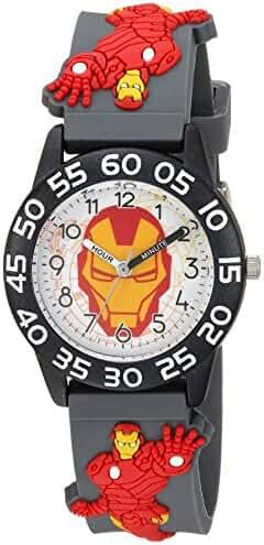 Marvel Boy's 'Iron Man' Quartz Plastic Casual Watch, Color:Grey (Model: WMA000034)