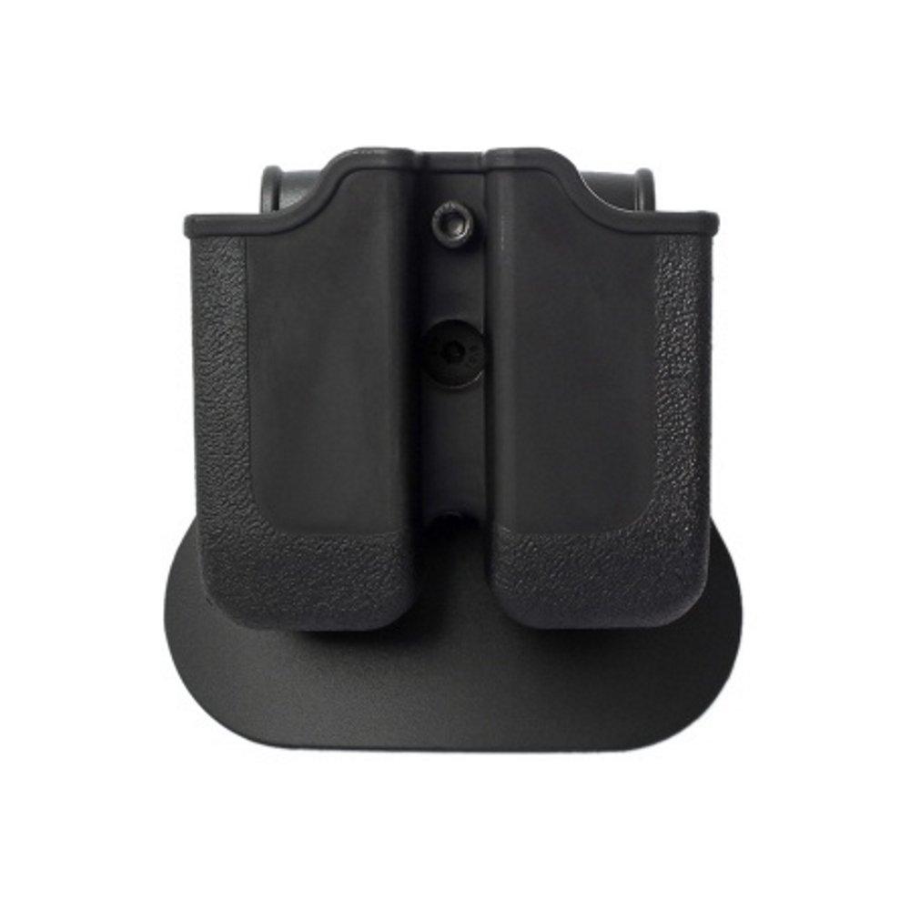IMI Defense Z2000doble cartuchera ajustable giratorio giro Double Magazine Polímero Pouch para Glock 17/19/22/23/25/26/27/31/32/33/34/35/37/38/39