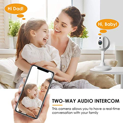 Security Camera 1080P Mini Spy Camera Wireless WiFi Hidden Camera Pet Camera Wireless Indoor with Motion Detection Two Way Audio, Night Vision