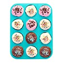 Premium Silicone Muffin Pan – BPA-Free & Dishwasher Safe – No More Sticking or Scrubbing! No More Muffin Liners or Cupcake Liners, Plus Ebook by Delightful Mom Food
