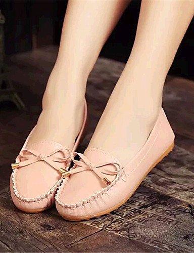 Mujer Rosa semicuero negro Zapatos Blanco tac¨®n Plano Cn34 us5 Uk6 Pink comfort Black De Zq Eu39 exterior Yyz Uk3 planos Cn39 Casual Eu35 us8 qtPWnAx7x