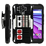 MINITURTLE Case Compatible w/ Moto G Hard Case (3rd Generation)| Moto G XT1548 Cover[Clip Armor] Premium Defender Case Hard Shell Silicone Interior w/ Stand & Holster Game Controller