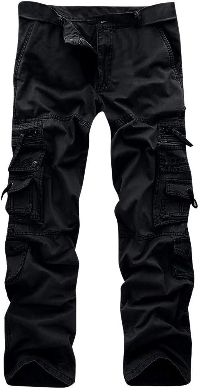 "Tall long leg Mens GREY smart combat work trousers Multi pockets NEW 32/"" waist"