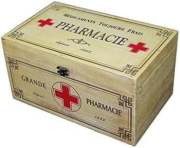 Amazon.de: Holz Medizin Aufbewahrungsbox Erste Hilfe Shabby Vintage ...