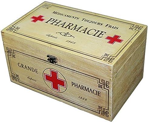 Amazon.De: Holz Medizin Aufbewahrungsbox Erste Hilfe Shabby