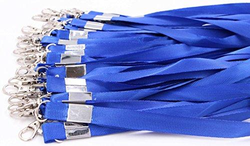 Neck Lanyards for Id Badges - LeBeila Id Badge Lanyard Bulk Order 30pcs Nylon Neck Strap for Badges, ID Holder & Cards (30pcs, Blue)