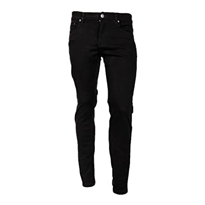 Victorious Men's Skinny Fit Color Jeans-32x30-Black at Men's Clothing store