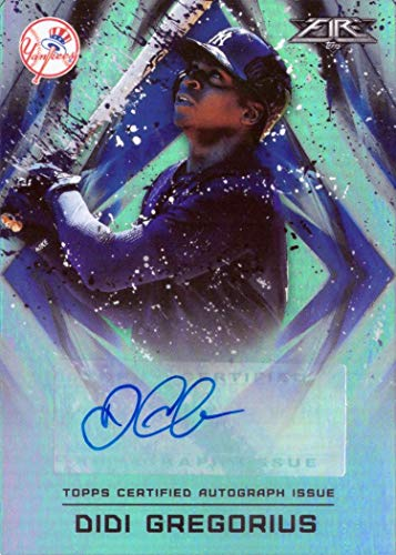 2017 Topps Fire #FA-DG Didi Gregorius Certified Autograph Baseball Card - Only 490 made!