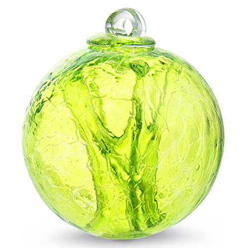 Witch Ball Hand Blown Glass (Reseda Green) by Iron Elegance