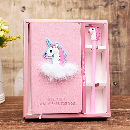 Kalaia Unicorn Journal Gel Pen Set - Super Cute Unicorn Diary Notebook with Pen for Girls Birthday by Kalaia