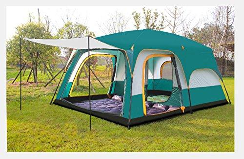 家庭教師職業ミュージカルテント ツールームテント特大 2重構造 UVカット 8-12人用 防水 説明書付き グリーン
