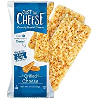Just the Cheese Crunchy Baked Low Carb Snack Bars, Grilled Cheese (10 Two-Bar Packs)